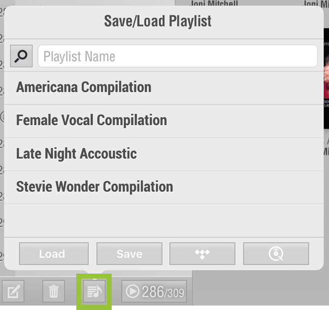 Browse: Save/Load Playlist