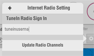 Internet Radio: Username