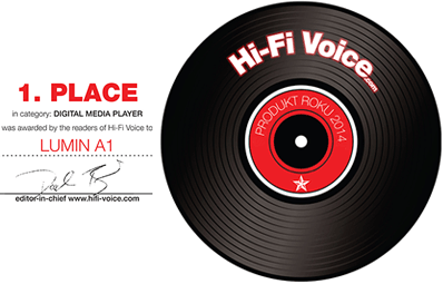 HiFi Voice LUMIN A1 Award